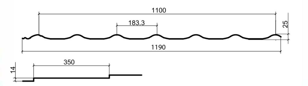 Размеры металлочерепицы Монтеррей